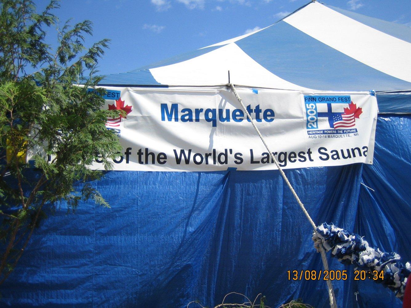 Maailma suurin sauna Marquetassa